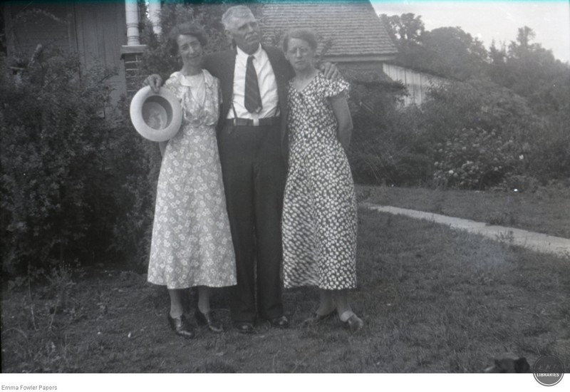 Two unidentified Women and a Man