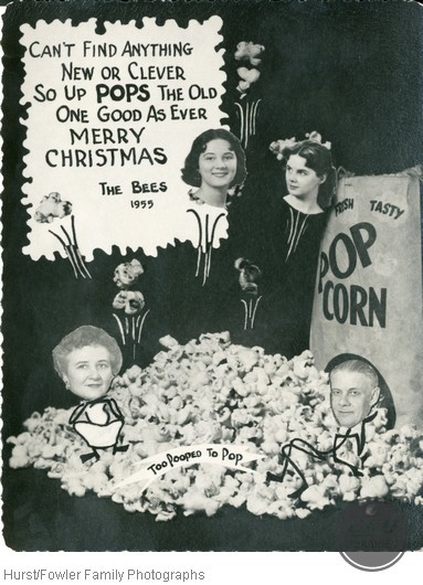 Popcorn Themed, Bee Family Christmas Card