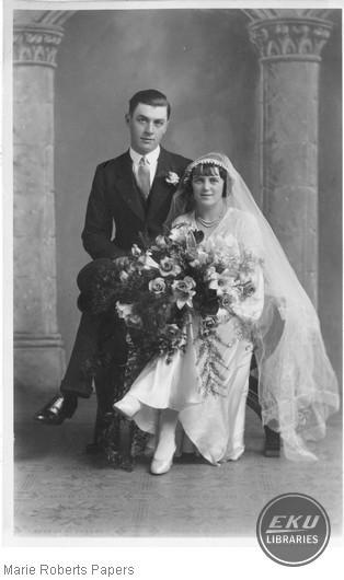Unidentified Couple's Wedding Photo