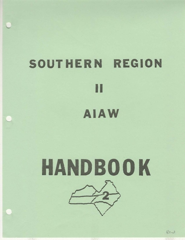 AIAW Publications Series, Southern Region II Handbooks