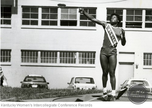 Unidentified Member of the Western Kentucky University Track and Field Team