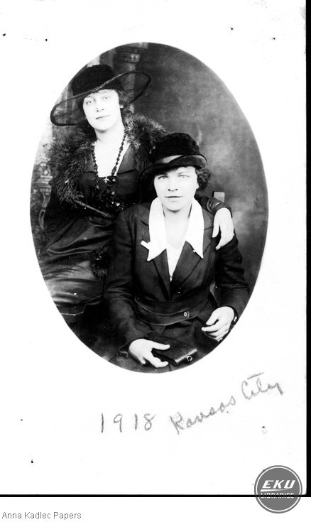 Anna Kadlec and Mrs. Pierce (left)