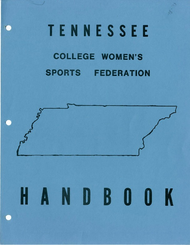 Tennessee College Women's Sports Federation Handbooks