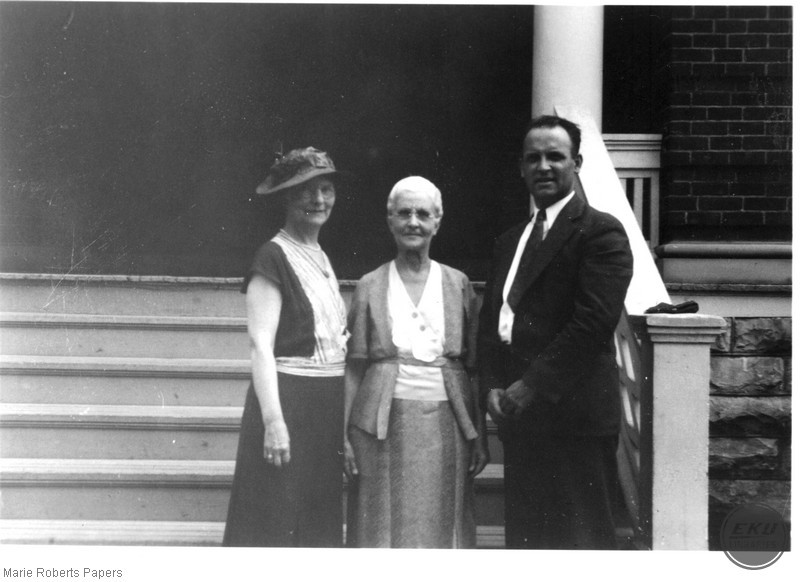 Marie L. Roberts, Anna Harris, and an Unidentified Man