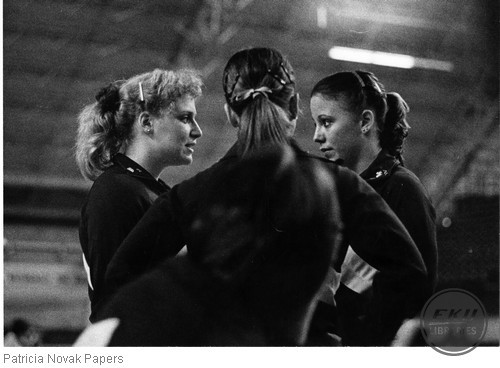 Laura Spencer, Cheryl Behne, and Sue Law seemingly engrossed in some deep conversation