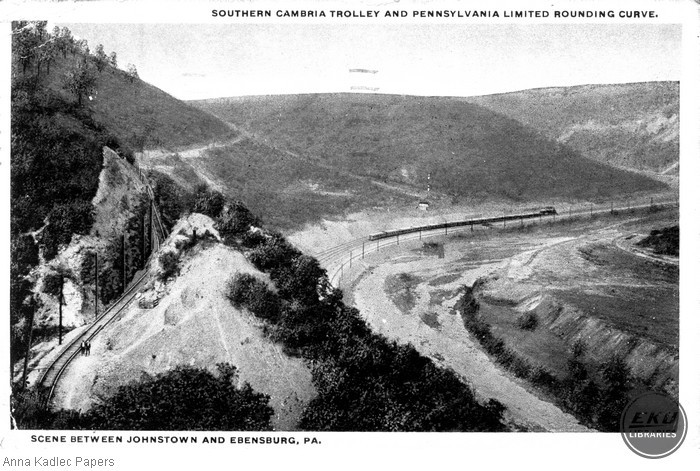 Southern Cambria Trolley and Pennsylvania Limited Rounding Curve