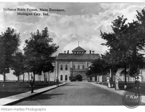 Post Card of Indiana State Prison, Main Entrance