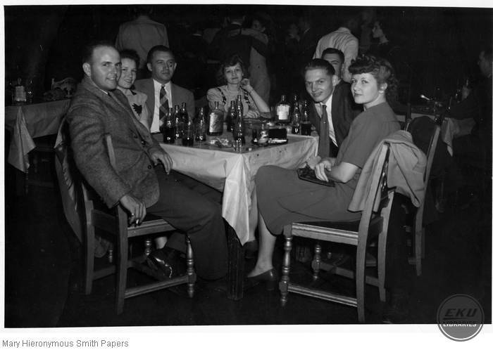 Unidentified group of young people