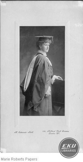 Josephine Bellis in Cap and Gown