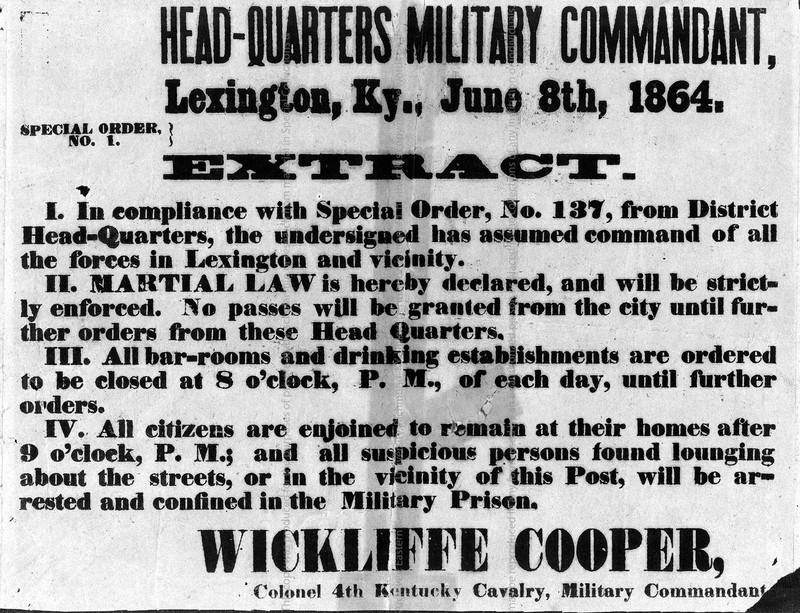 Headquarters, Military Commandant Broadside