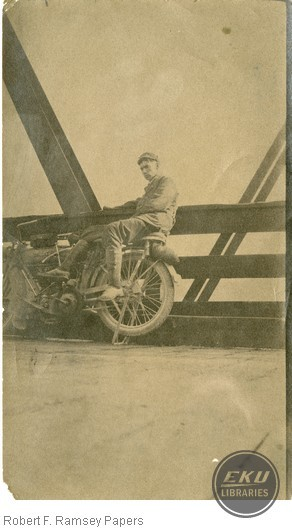Unidentified Man on a Motorcycle