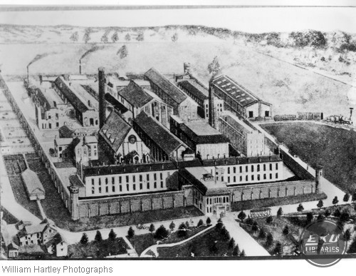 Drawing of the Indiana State Prison Compound