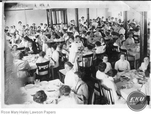 Students Eating a Meal in the Cafeteria