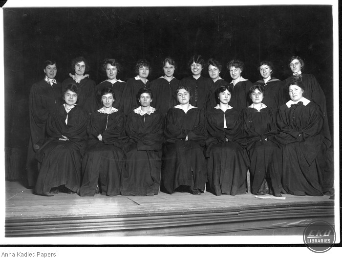 Anna Kadlec (front row, left) and the University of Chicago Women's Choir