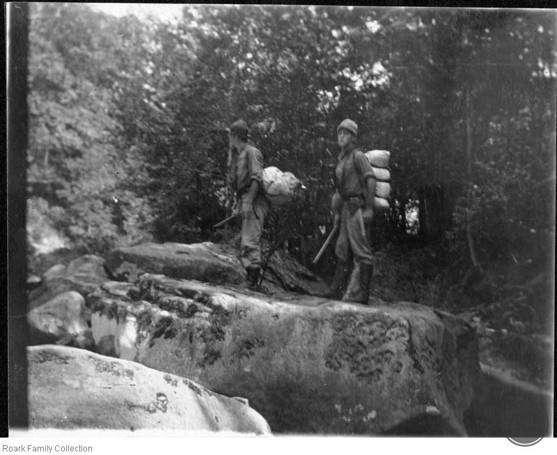 Unidentified Men Hiking
