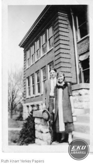 Roy Murphy and Ruth Knarr on campus