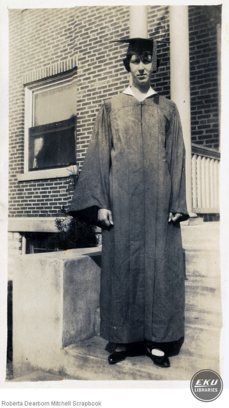 Roberta Dearborn in Graduation Regalia
