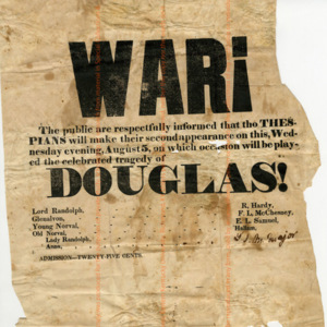 "Handbill Advertisement for ""Douglas"""