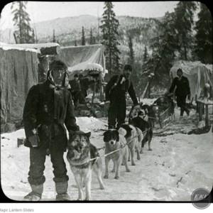 Gold Miners and Dog Team North of Arctic Circle, Alaska