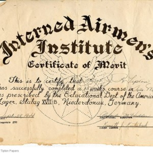 Interned Airmen's Institute Certificate of Merit